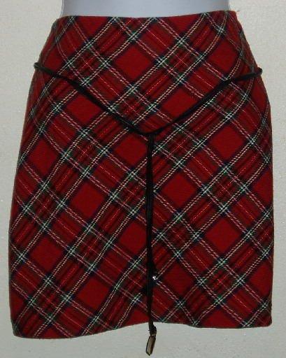 Xhilaration Juniors Size 7 Red Plaid Skirt Punk Goth