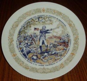 1974 D'Arceau Limoges Lafayette Battle Brandywine Plate