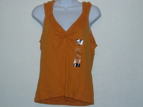 NWT Liz Claiborne Orange Tank Top Sz XL Sleeveless