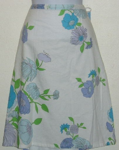 NWT Izod White Floral Skirt Size 18W Blue Purple Green