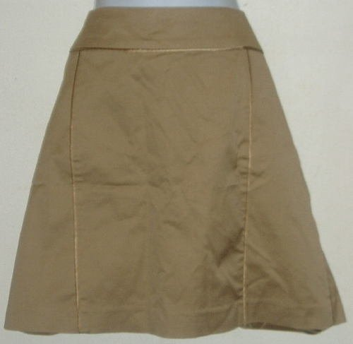NWT Kenneth Cole Brown/Tan Half Piped Skirt Size 14