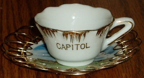 Washington D.C. U.S. Capitol Decorative Cup and Saucer