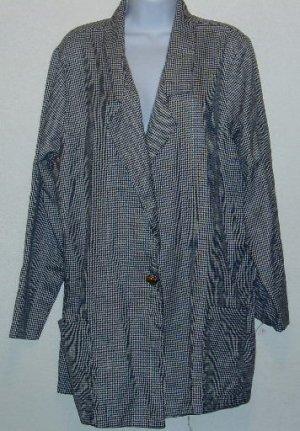 Roaman's Black/White Checked Blazer/Jacket Sz 26/28 2X