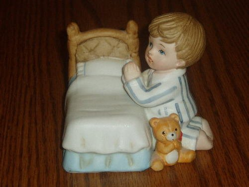HOMCO Praying Boy Bedside Prayer Figurine #1420