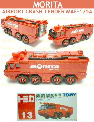 Tomy Tomica Diecast : #13 Morita Airport Crash Tender MAF-125A