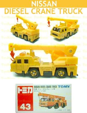 Tomy Tomica Diecast : #43 Nissan Diesel Crane Truck (Old Edition)