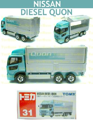 Tomy Tomica Diecast : #31 Nissan Diesel Quon (Turquoise) Special First Release Edition
