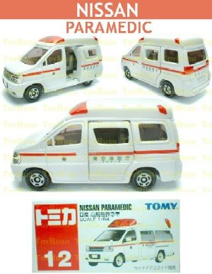 Tomy Tomica Diecast : #12 Nissan Paramedic