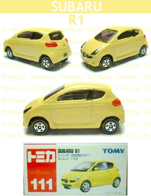 Tomy Tomica Diecast : #111 Subaru R1 (Yellow) Special First Release Edition