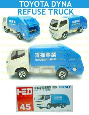 Tomy Tomica Diecast : #45 Toyota DYNA Refuse Truck