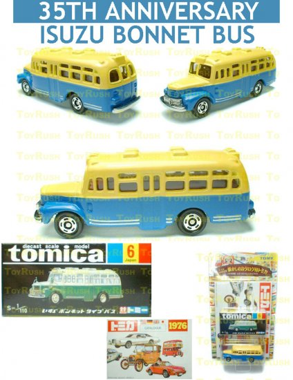 Tomy Tomica 35th Anniversary Limited Edition Diecast : #6 Isuzu Bonnet Bus + 1976 Catalog