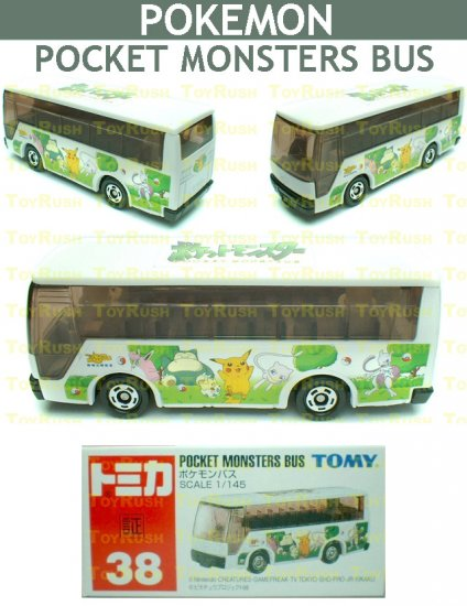 Tomy Tomica Diecast : #38 Pocket Monsters Pokemon Bus
