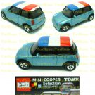 Tomy Tomica Lottery Series X : #L10-12 Mini Cooper Light Blue With France Flag Top