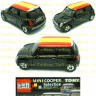 Tomy Tomica Lottery Series X : #L10-14 Mini Cooper Black With Spain Flag Top