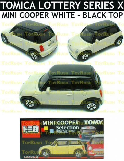 Tomy Tomica Lottery Series X : #L10-15 Mini Cooper White With Black Top