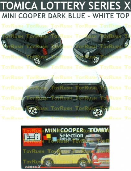 Tomy Tomica Lottery Series X : #L10-19 Mini Cooper Dark Blue With White Top