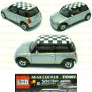 Tomy Tomica Lottery Series X : #L10-04 Mini Cooper Silver With Checker Top