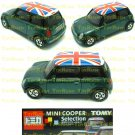 Tomy Tomica Lottery Series X : #L10-08 Mini Cooper Green With UK Flag Top