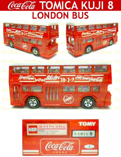Tomy Tomica Lottery Series VIII : #L8-04 Coca Cola London Bus