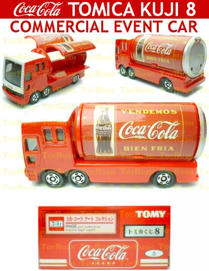Tomy Tomica Lottery Series VIII : #L8-05 Coca Cola Commercial Event Car