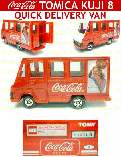 Tomy Tomica Lottery Series VIII : #L8-08 Coca Cola Quick Delivery Van
