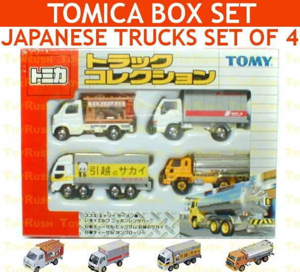 Tomy Tomica Box Set : Japanese Trucks Set of 4