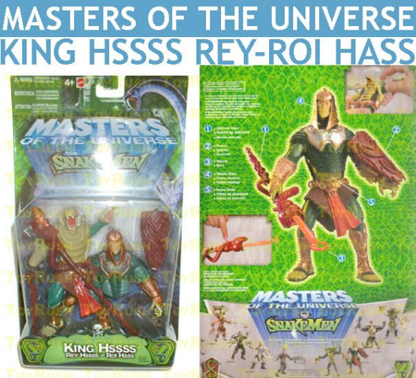 Masters of the Universe MOTU vs SnakeMen - King Hssss