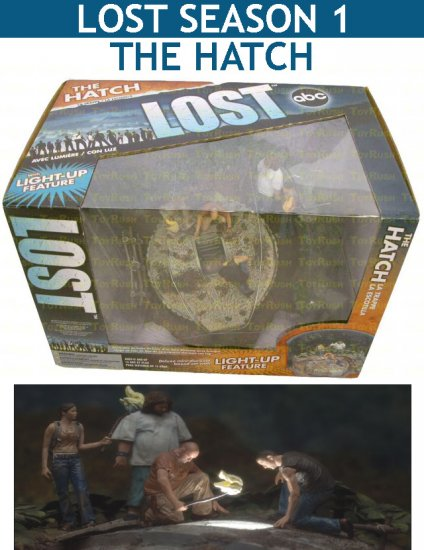 LOST Season 1 : The Hatch (Deluxe mini-diorama boxed set with LIGHT-UP feature)