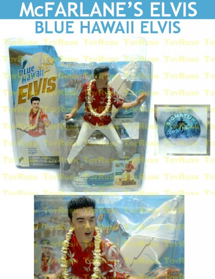 McFarlane's Elvis Presley Action Figure : Blue Hawaii Elvis