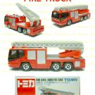 Tomy Tomica Diecast : #108 Hino Aerial Ladder Fire Truck
