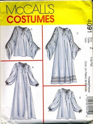McCalls 4091 P487 Sewing Pattern  Misses Chemise Sewing Costume Sz  L XL