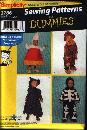Simplicity 2786 Toddler Costumes  Corn, Skeleton, Scarecrow, Witch Pattern Sz NB, 1, 2, 3,  4 Uncut