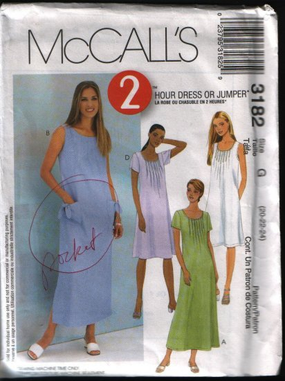 Mccalls 3182 Plus Size Jumper and Dress Sewing Pattern 20 22 24
