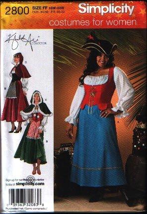Simplicity 2800 Sewing Pattern Womens Plus Size Costume  Sizes 18w-24w Uncut