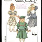 Simplicity 8818 girls vintage 1980s Toddlers beret and Party Dress Pattern Size 6 UNCUT