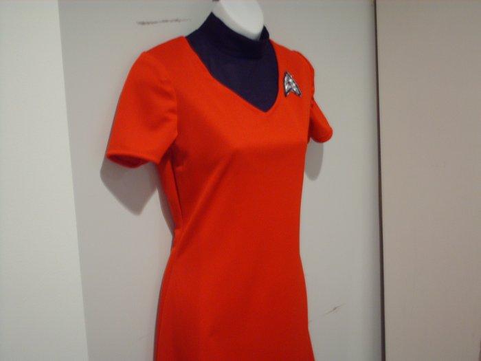 New Star Trek Uhura Mini Dress Uniform and Dickey Costume Plus Sizes to 4x or 26