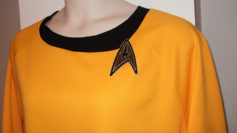Like Star Trek TOS Dress Costume YELLOW-GOLD Uhura  Womens Plus Sizes to 4X or 26