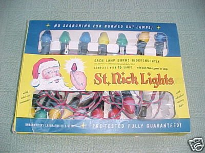 Vintage St. Nick Lights HY-G Products Los Angeles FREE SHIPPING!!!