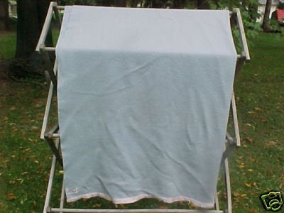 Vintage Light Blue Wool Blanket FREE SHIPPING!!!