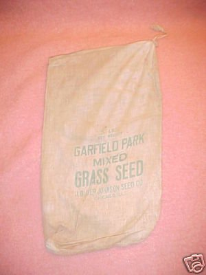 Vintage Cloth Bag Grass Seed Johnson Seed Chicago FREE SHIPPING!!!