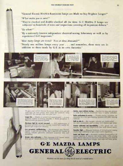 GE Mazda Lamps 1942 WW II Ad