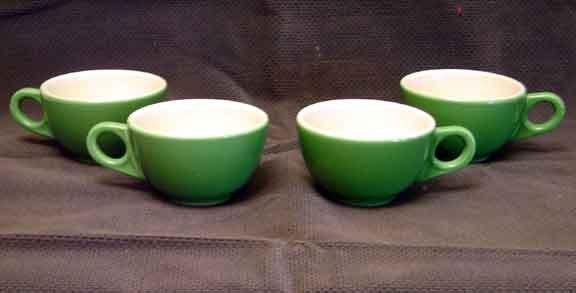 Homer Laughlin GREENBRIER RESORT CHINA Set of 4 CUPS