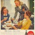 Coca Cola 1946 AD - Office Lunch Have a Coke