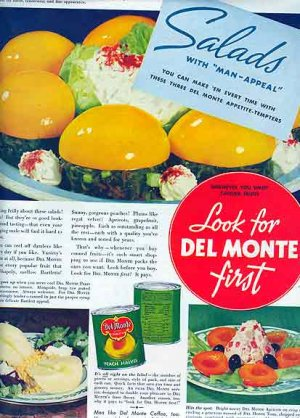 Del Monte AD 1946 - Salads with Man Appeal