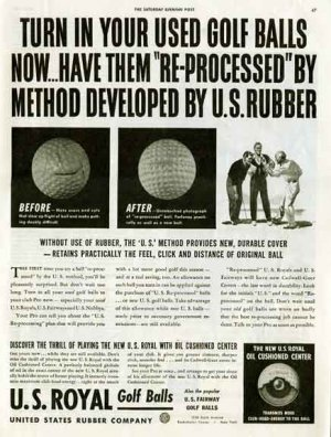 US Royal GOLF Balls 1942 WW II AD