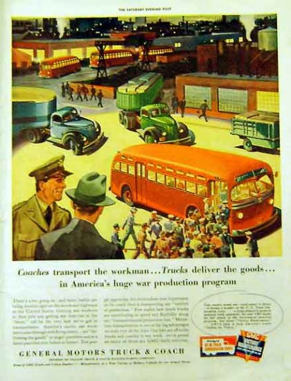 GM Truck & Coach 1942 WW II Ad Full Color