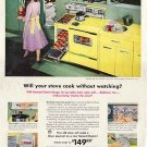 GENERAL ELECTRIC STOVES 1959 Ad - Cook without Watching