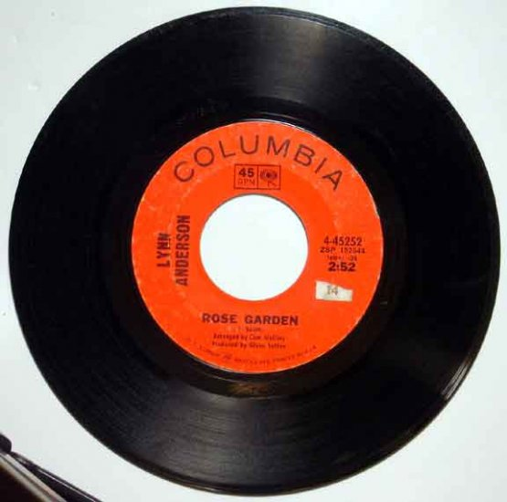 Lynn Anderson ROSE GARDEN 1970 Columbia 45 RPM