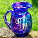 Charles Gibson Carnival Glass Pitcher