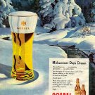 GOEBEL BEER Ad 1947 - George Shepherd Art
